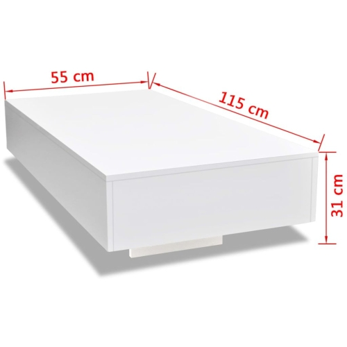 244021  Coffee Table High Gloss WhiteHome &amp; Garden<br>244021  Coffee Table High Gloss White<br>