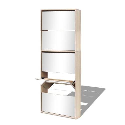Shoe Cabinet 5-Layer Mirror Oak 63x17x169.5 cmHome &amp; Garden<br>Shoe Cabinet 5-Layer Mirror Oak 63x17x169.5 cm<br>