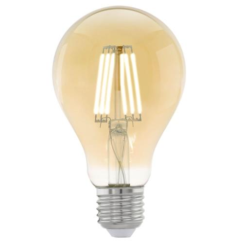 EGLO Vintage Style LED Light Bulb E27 A75 Amber 11555
