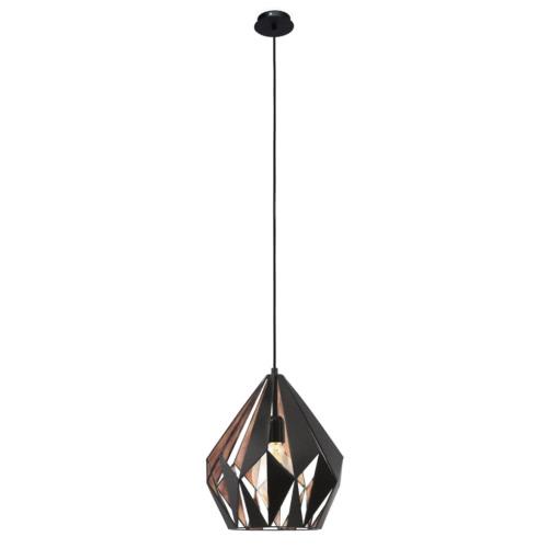 EGLO Pendant Lamp Carlton 1 Black Copper Colour 49254