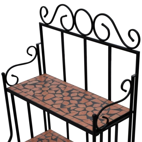 Plant Stand Plant Display Terracotta Colour Mosaic PatternHome &amp; Garden<br>Plant Stand Plant Display Terracotta Colour Mosaic Pattern<br>