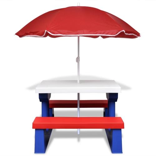 Picknicktisch mit Schirm f?r KinderHome &amp; Garden<br>Picknicktisch mit Schirm f?r Kinder<br>