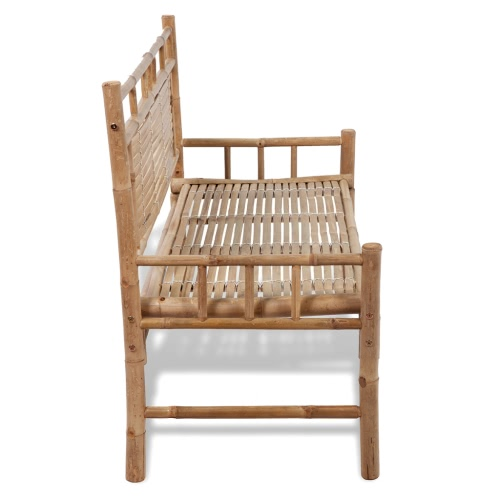 Bamboo Bench with BackrestHome &amp; Garden<br>Bamboo Bench with Backrest<br>