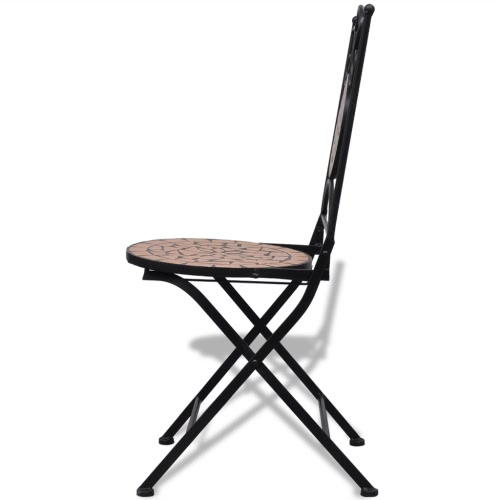 Mosaic Bistro Chair Terracotta Set of 2Home &amp; Garden<br>Mosaic Bistro Chair Terracotta Set of 2<br>
