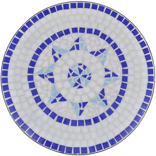 Mosaic Table 60 cm Blue / WhiteHome &amp; Garden<br>Mosaic Table 60 cm Blue / White<br>