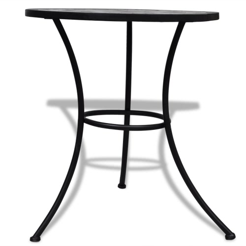 Mosaic Table 60 cm Black / WhiteHome &amp; Garden<br>Mosaic Table 60 cm Black / White<br>