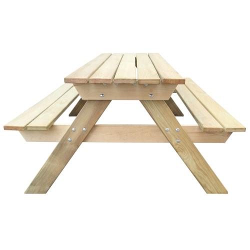 Wooden Picnic Table 150 x 135 x 71.5 cmHome &amp; Garden<br>Wooden Picnic Table 150 x 135 x 71.5 cm<br>