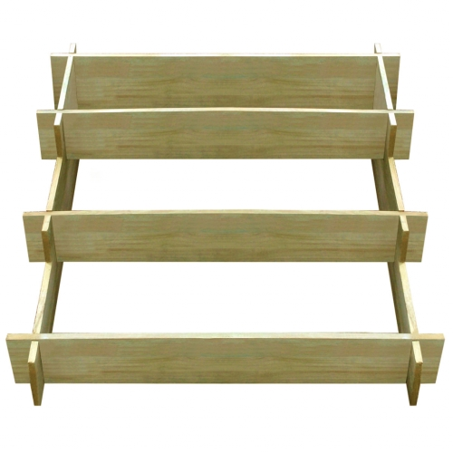 Wooden planter impregnated with 3 levels 90 x 90 x 35 cm