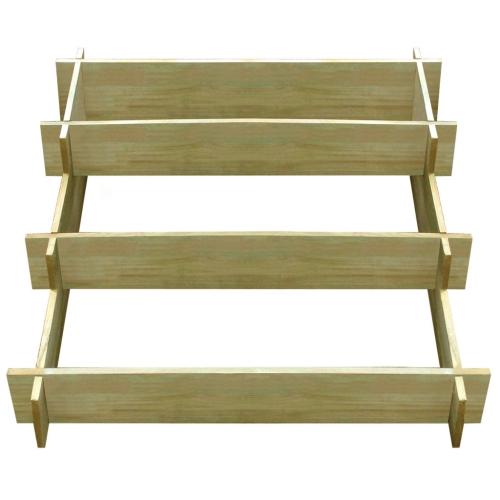 Деревянный плантатор, пропитанный 3 уровнями 90 х 90 х 35 см