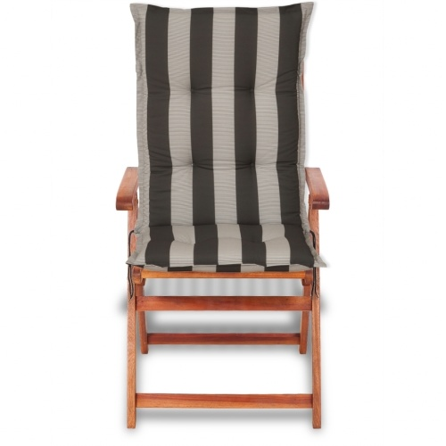 sedia da giardino cuscino del sedile 4 pezzi 120x52 cm strisce scure
