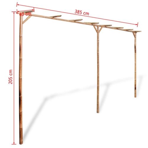 Pergola Bamboo 385x40x205 cmHome &amp; Garden<br>Pergola Bamboo 385x40x205 cm<br>