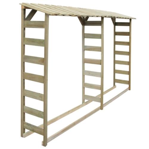 Double Firewood Storage Shed 300x44x176 cm Impregnated PinewoodHome &amp; Garden<br>Double Firewood Storage Shed 300x44x176 cm Impregnated Pinewood<br>