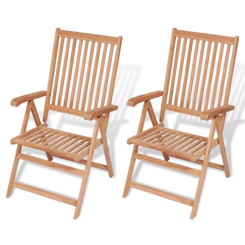 Reclining Garden Chairs 2 pcs TeakHome &amp; Garden<br>Reclining Garden Chairs 2 pcs Teak<br>