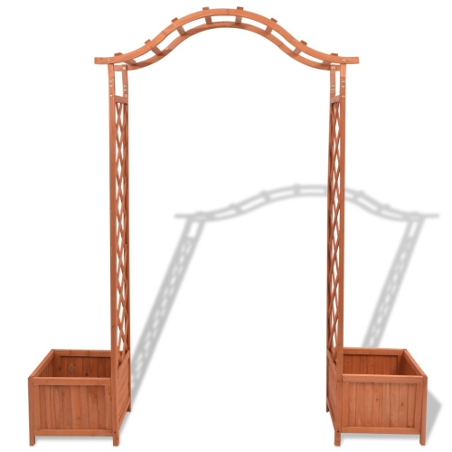 Trellis Rose Arch with Planters 180x40x205 cmHome &amp; Garden<br>Trellis Rose Arch with Planters 180x40x205 cm<br>