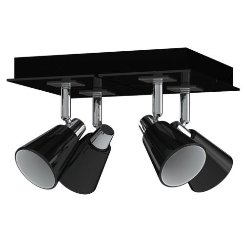 Antonio Miro Spotlight Ceiling Lamp Chrome Black 4 Bulbs