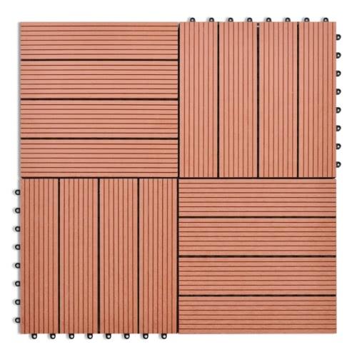WPC Tiles 30x30cm 11pcs 1m2 BrownHome &amp; Garden<br>WPC Tiles 30x30cm 11pcs 1m2 Brown<br>