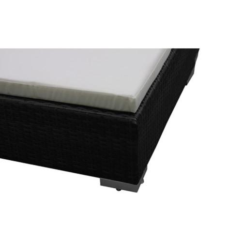 Double Black Rattan Lounge BedHome &amp; Garden<br>Double Black Rattan Lounge Bed<br>