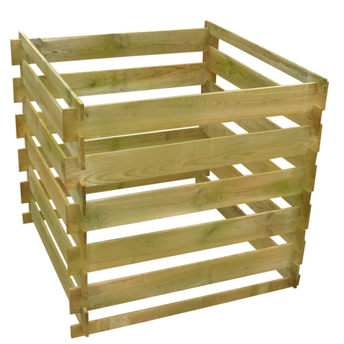 Square Slatted Wooden Compost Bin 0.54 m3Home &amp; Garden<br>Square Slatted Wooden Compost Bin 0.54 m3<br>