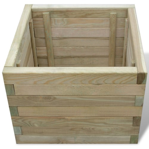 Planter Square 50 x 50 x 40 cm WoodHome &amp; Garden<br>Planter Square 50 x 50 x 40 cm Wood<br>