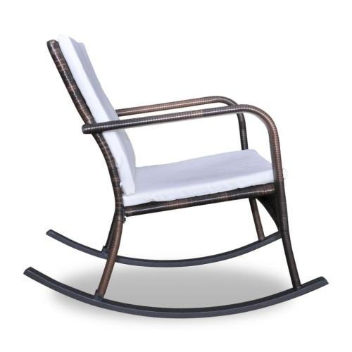Cadeira de balanço em Brown Polirattan