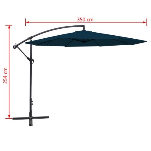 Cantilever Umbrella 3.5 m BlueHome &amp; Garden<br>Cantilever Umbrella 3.5 m Blue<br>