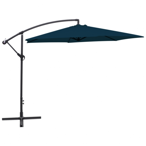 Paraguas cantilever 3 m Azul