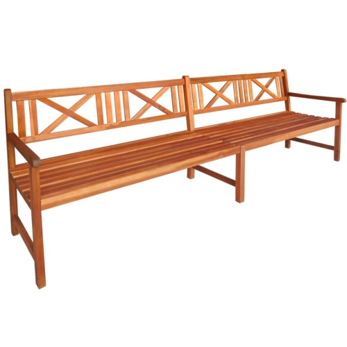 Garden Bench Solid Acacia Wood 240x56x90 cm BrownHome &amp; Garden<br>Garden Bench Solid Acacia Wood 240x56x90 cm Brown<br>