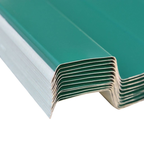 Roof Panels 12 pcs Galvanised Steel GreenHome &amp; Garden<br>Roof Panels 12 pcs Galvanised Steel Green<br>