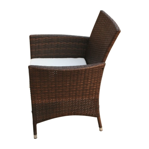 Garden Chairs 2 pcs Brown Poly RattanHome &amp; Garden<br>Garden Chairs 2 pcs Brown Poly Rattan<br>
