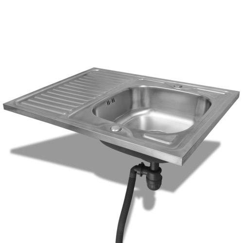 Kitchen Sink with Drain 80 x 60 cmHome &amp; Garden<br>Kitchen Sink with Drain 80 x 60 cm<br>
