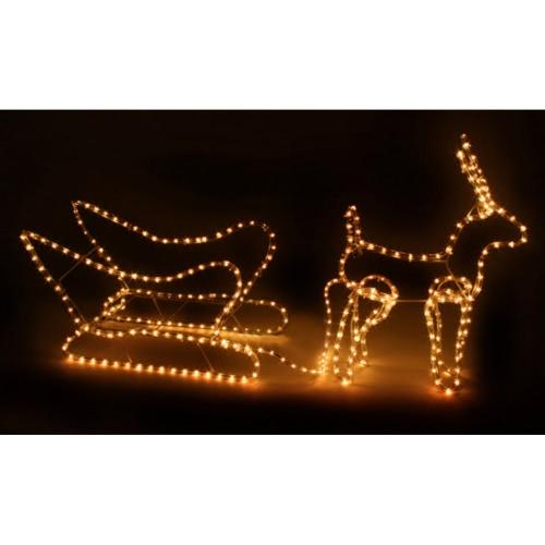 Weihnachtsdekoration Schlitten mit RentierHome &amp; Garden<br>Weihnachtsdekoration Schlitten mit Rentier<br>