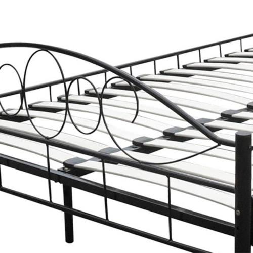 Black Metal Bed 140 x 200 cmHome &amp; Garden<br>Black Metal Bed 140 x 200 cm<br>