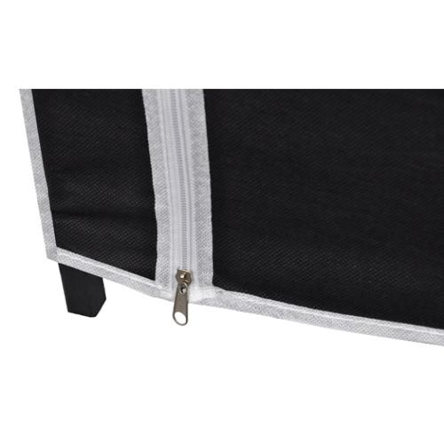 2 x Folding Wardrobe BlackHome &amp; Garden<br>2 x Folding Wardrobe Black<br>