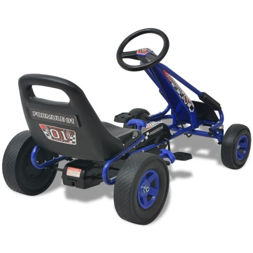 Kart à pédale avec siège ajustable Bleu