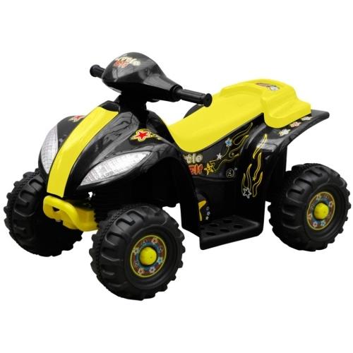 Mini electric quad bikes for children, yellow and black