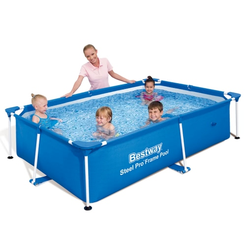 Bestway Steel Pro Rectangular Swimming Pool 239 * 150 * 58cmHome &amp; Garden<br>Bestway Steel Pro Rectangular Swimming Pool 239 * 150 * 58cm<br>