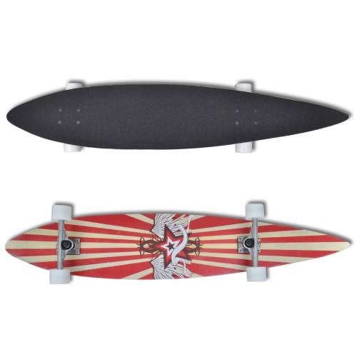 Longboard Skateboard Star 117 cm 9 strati in acero 22,5 cm truck rossoSports &amp; Outdoor<br>Longboard Skateboard Star 117 cm 9 strati in acero 22,5 cm truck rosso<br>