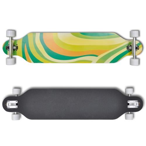 Longboard 107 centimetri 9 strati in acero Skateboard 9 ALU verdeSports &amp; Outdoor<br>Longboard 107 centimetri 9 strati in acero Skateboard 9 ALU verde<br>