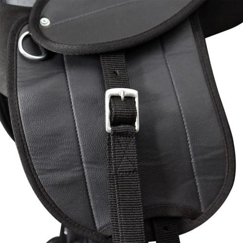 Pony Saddle Set 25.4 cm Black