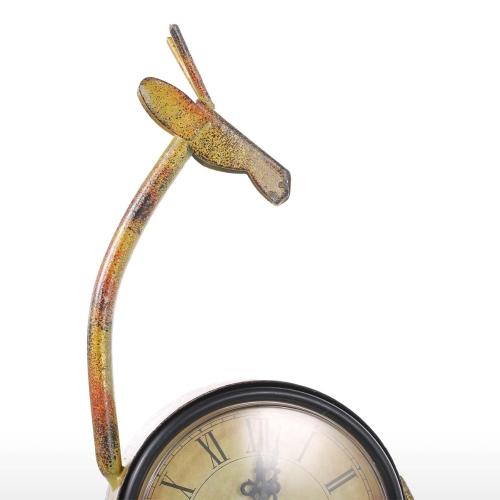 Deer Clock Handmade Vintage Metal Deer Figurine Mute Table ClockHome &amp; Garden<br>Deer Clock Handmade Vintage Metal Deer Figurine Mute Table Clock<br>