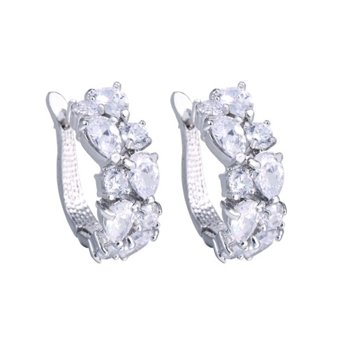 Mona Lisa luxury AAA zircon exquisite earrings