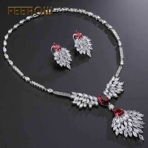 collana orecchini set di gioielli a due pezzi