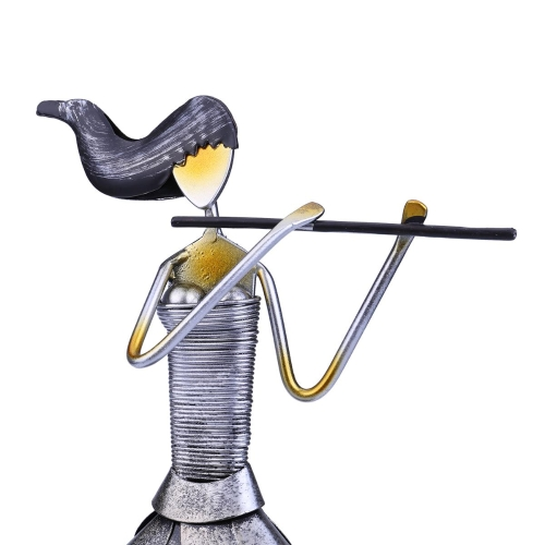 Tooarts Playing Flute Girl Handmade Metal Sculpture Handicraft Home Decor Creative Ornament Music Instrument GiftHome &amp; Garden<br>Tooarts Playing Flute Girl Handmade Metal Sculpture Handicraft Home Decor Creative Ornament Music Instrument Gift<br>
