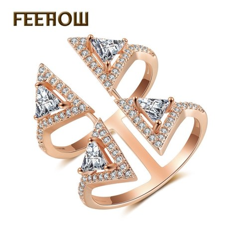 FEEHOW environmental protection copper plated platinum open ring