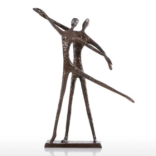 Двойной танец 2 Современная танцевальная бронзовая скульптура Металлическая скульптура Домашний декор Художественный подарок