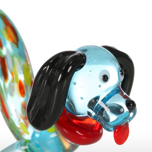 Tooarts Colorful Dog Gift Glass Ornament Animal Figurine Handblown Home Decor MulticolorHome &amp; Garden<br>Tooarts Colorful Dog Gift Glass Ornament Animal Figurine Handblown Home Decor Multicolor<br>