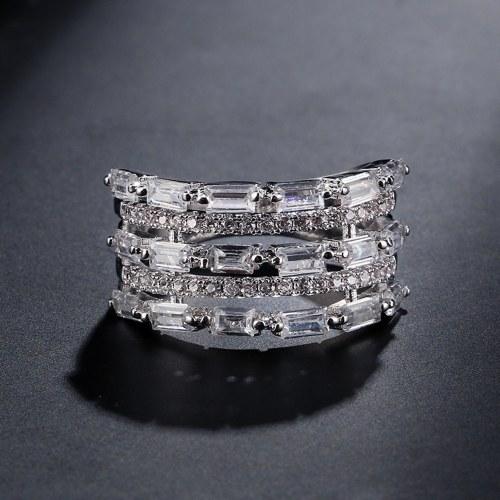 FEEHOW exquisite couple ring inlaid AAA zircon