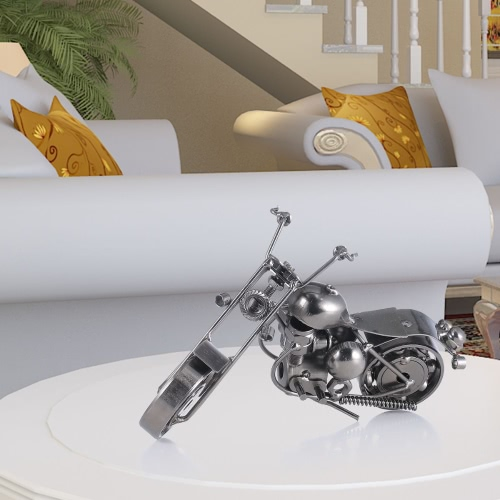 Iron Art Motorcycle Tooarts Home Decoration Handicraft Metal Sculpture Modern Sculpture Crafts Artwork GiftHome &amp; Garden<br>Iron Art Motorcycle Tooarts Home Decoration Handicraft Metal Sculpture Modern Sculpture Crafts Artwork Gift<br>