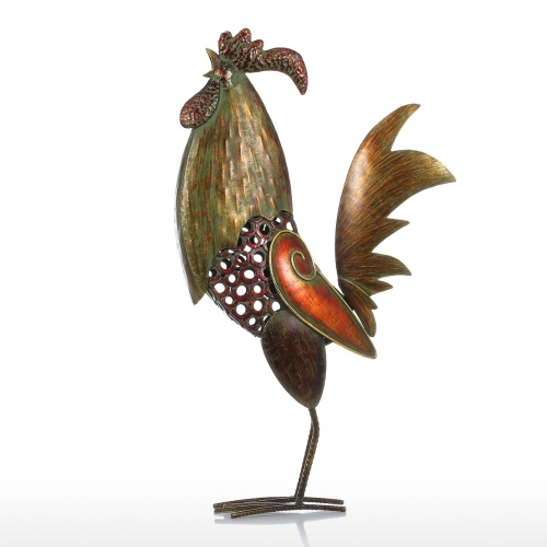 Tooarts Iron Rooster Home Decor Iron Craft Handicraft Animal OrnamentHome &amp; Garden<br>Tooarts Iron Rooster Home Decor Iron Craft Handicraft Animal Ornament<br>