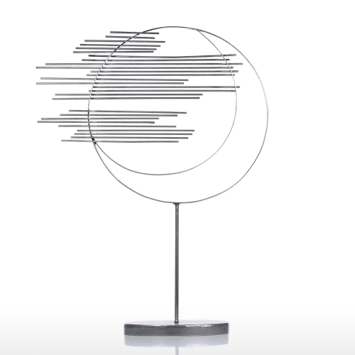 Two Circles Iron Sculpture Abstract Sculpture Modern Sculpture Iron Circle Home Decor Modern and Concise ArtworkHome &amp; Garden<br>Two Circles Iron Sculpture Abstract Sculpture Modern Sculpture Iron Circle Home Decor Modern and Concise Artwork<br>